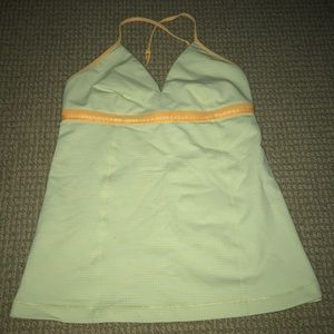 Yellow lululemon tank top